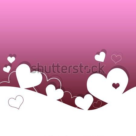 Sevgililer günü kart kalpler sevmek çift kırmızı Stok fotoğraf © Mazirama