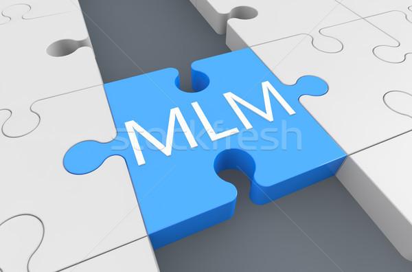 Niveau marketing puzzle rendu 3d illustration affaires Photo stock © Mazirama