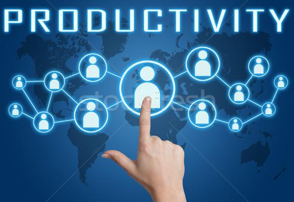 производительность стороны социальной иконки синий Сток-фото © Mazirama
