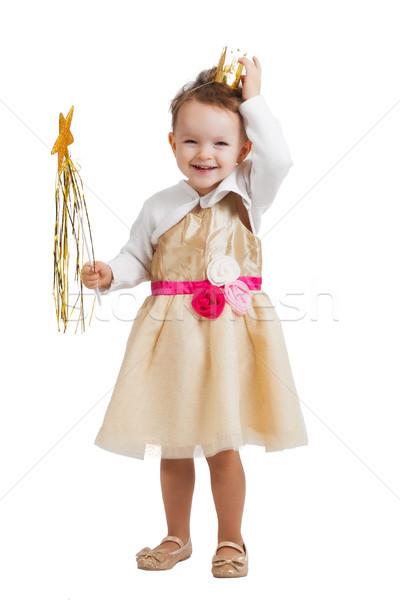 Princesa retrato feliz sorridente risonho pequeno Foto stock © Mazirama
