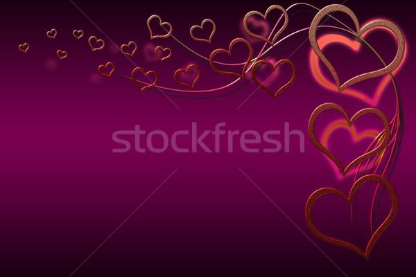 Sevgililer günü kart tasarımlar kırmızı kalpler Stok fotoğraf © Mazirama