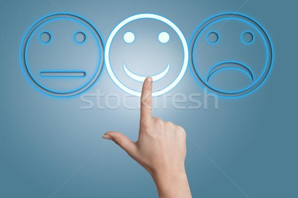 Smiling button Stock photo © Mazirama