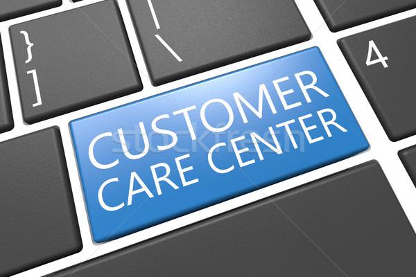 Müşteri hizmetleri klavye 3d render örnek kelime Stok fotoğraf © Mazirama