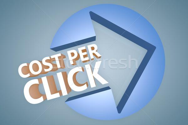 Costo por clic texto 3d ilustración Foto stock © Mazirama