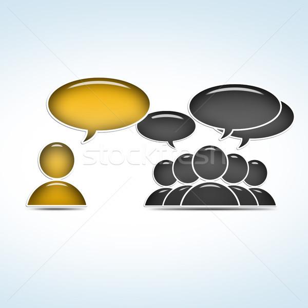 группа социальной руководство бизнеса интернет Сток-фото © Mazirama