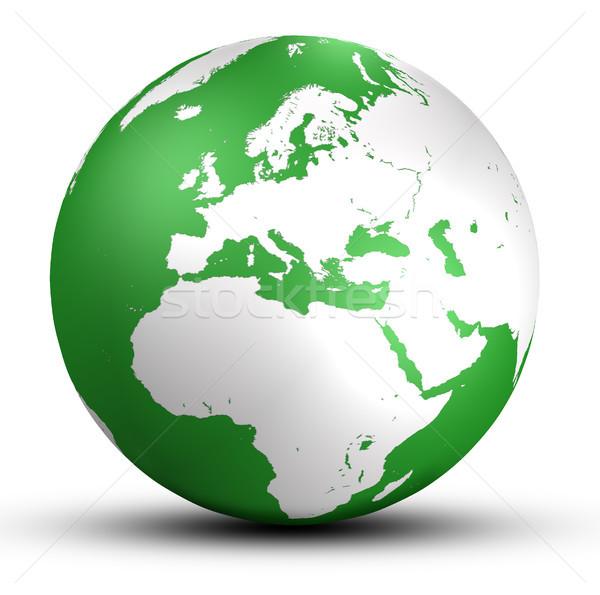 世界 世界中 緑 ヨーロッパ 影 孤立した ストックフォト © Mazirama