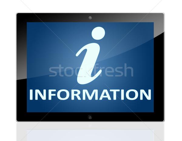 Tablet Info Stock photo © Mazirama