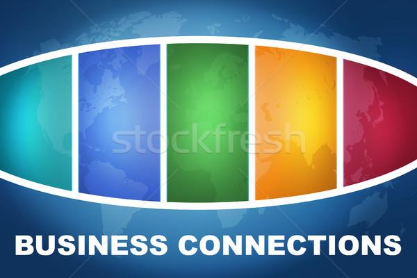ビジネス 文字 実例 青 カラフル ストックフォト © Mazirama