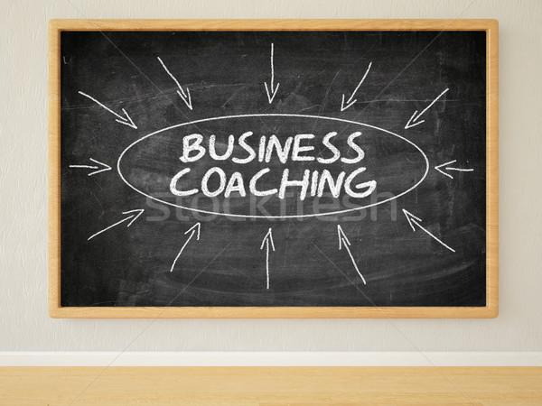 ビジネス コーチング 3dのレンダリング 実例 文字 黒 ストックフォト © Mazirama