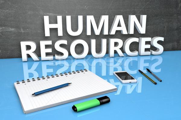 Humanismo recursos texto quadro-negro caderno canetas Foto stock © Mazirama