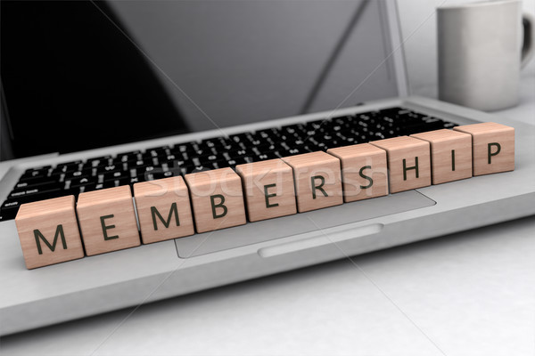 Membership text concept Stock photo © Mazirama