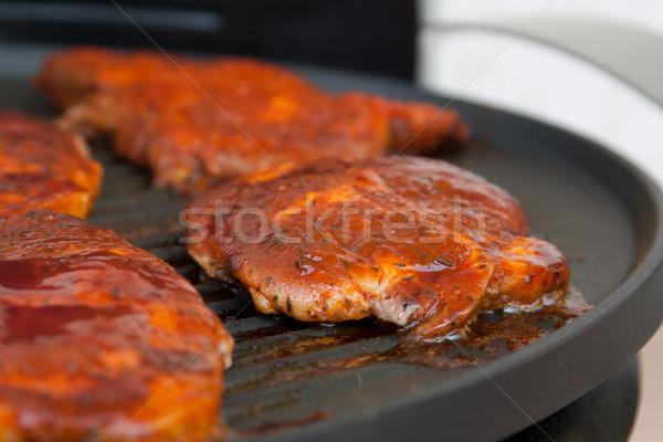 ストックフォト: 肉 · ベスト · カット · グリル · パーティ · 火災