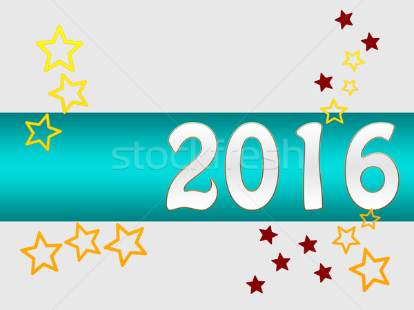 Silvester greeting card 2016 Stock photo © Mazirama