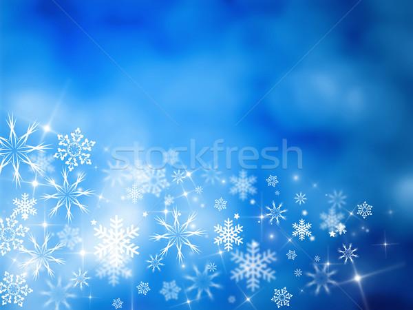 Noel kart Noel tasarımlar mavi Yıldız Stok fotoğraf © Mazirama