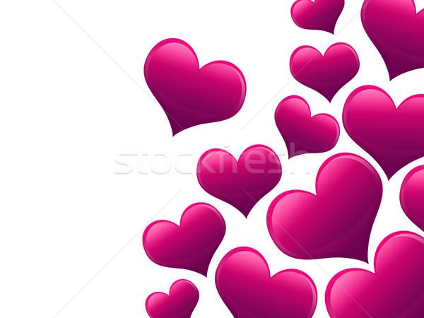 Sevgililer günü kart kalpler tüm pembe doku Stok fotoğraf © Mazirama