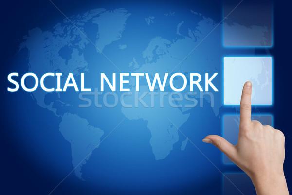 社会的ネットワーク 手 ボタン タッチスクリーン インターフェース ストックフォト © Mazirama