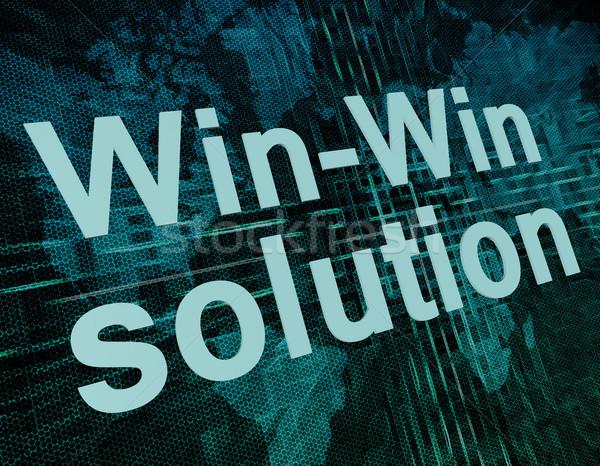 Megoldás szavak digitális világtérkép üzlet háttér Stock fotó © Mazirama