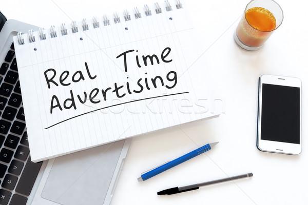 本当の 時間 広告 文字 ノートブック ストックフォト © Mazirama