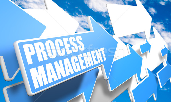 Processus gestion rendu 3d bleu blanche Photo stock © Mazirama