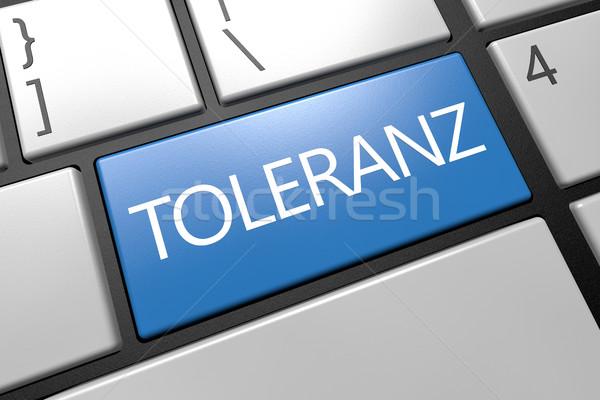 Palabra tolerancia teclado 3d ilustración azul Foto stock © Mazirama