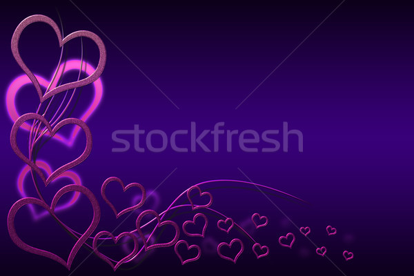 Valentin nap kártya dizájnok rózsaszín szívek örvények Stock fotó © Mazirama