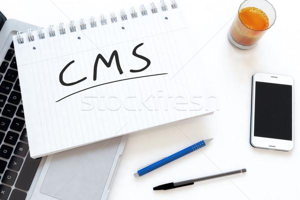 Conteúdo gestão cms texto caderno Foto stock © Mazirama