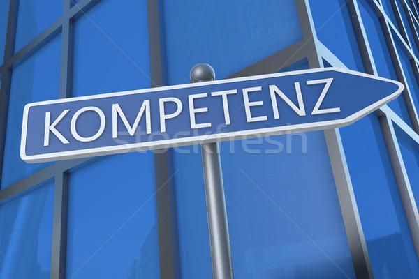 Palavra competência ilustração placa de rua escritório tornar Foto stock © Mazirama