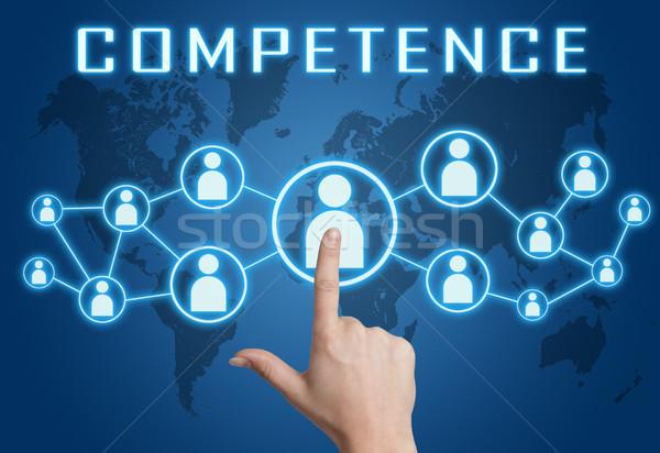 Competência texto mão social ícones Foto stock © Mazirama
