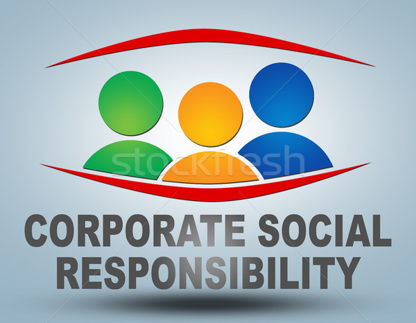Empresarial social responsabilidad texto ilustración gris Foto stock © Mazirama