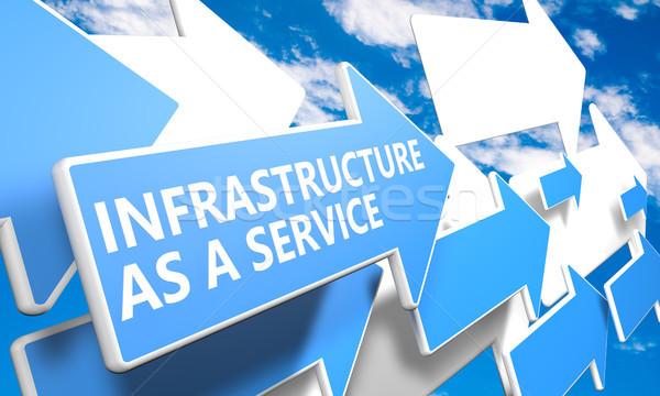 Infra-estrutura serviço 3d render azul branco Foto stock © Mazirama