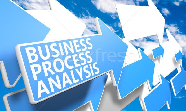 Działalności proces analiza 3d niebieski biały Zdjęcia stock © Mazirama