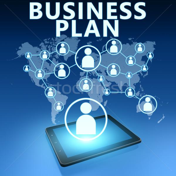 Negocios plan ilustración azul trabajo Foto stock © Mazirama