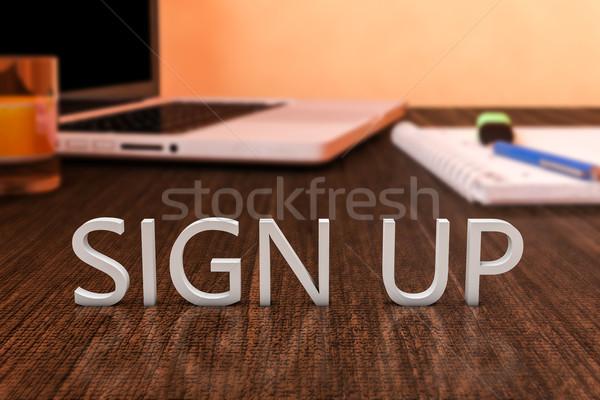 Sign up Stock photo © Mazirama