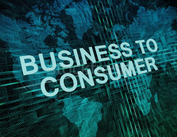 Foto stock: Negócio · consumidor · texto · verde · digital · mapa · do · mundo