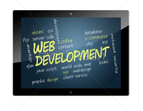 Stock photo: Tablet Web Development