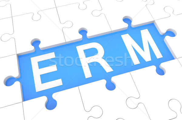 Empresa gestión rompecabezas 3d ilustración palabra Foto stock © Mazirama