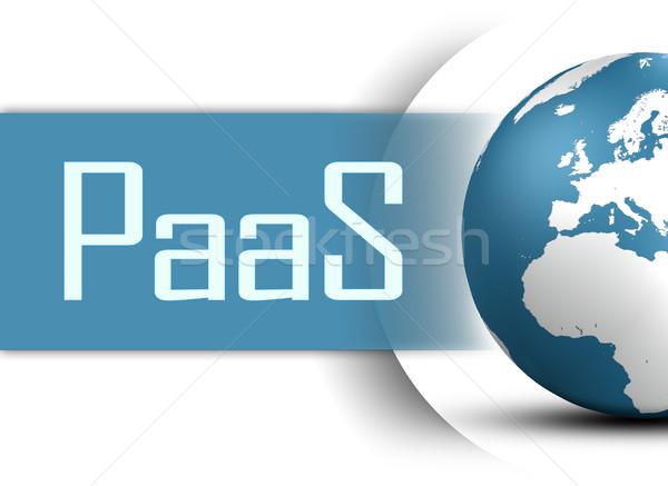 Dienst wereldbol witte internet technologie Stockfoto © Mazirama