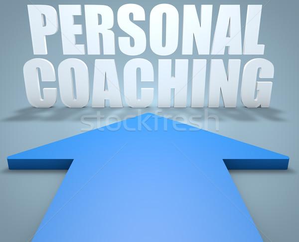 個人 コーチング 3dのレンダリング 青 矢印 ポインティング ストックフォト © Mazirama