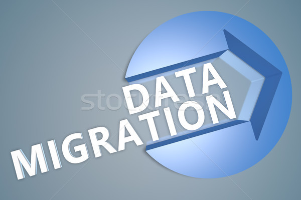 Adat vándorlás 3d szöveg render illusztráció nyíl Stock fotó © Mazirama