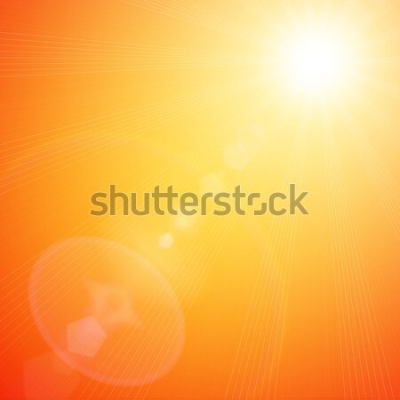 Primavera naranja soleado lugar texto cielo Foto stock © Mazirama