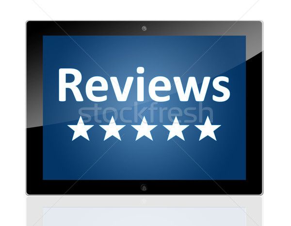 Tablet Reviews Stock photo © Mazirama