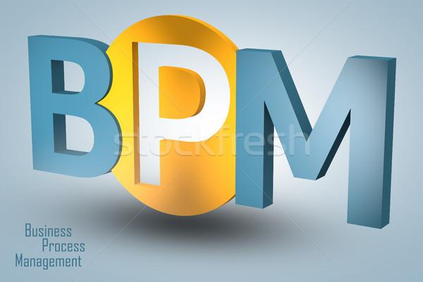 бизнеса процесс управления акроним 3d визуализации иллюстрация Сток-фото © Mazirama