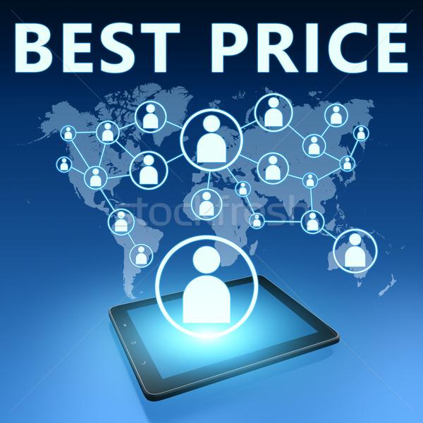 Legjobb ár illusztráció táblagép kék pénz bolt Stock fotó © Mazirama