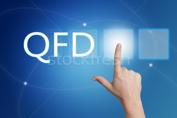 Kwaliteit functie hand knop interface Stockfoto © Mazirama