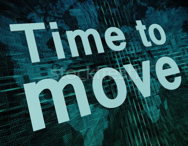Time to move Stock photo © Mazirama