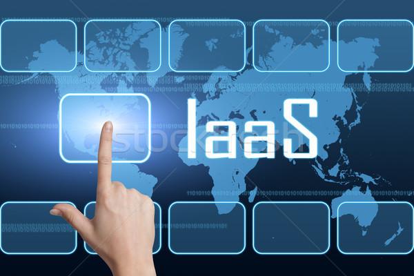 インフラ サービス インターフェース 世界地図 青 インターネット ストックフォト © Mazirama