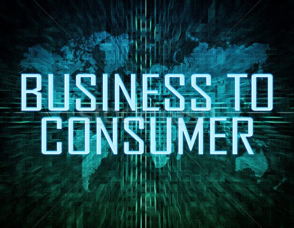 Negocios consumidor texto verde digital mapa del mundo Foto stock © Mazirama