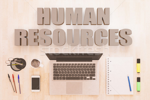 Menschlichen Ressourcen Text Notebook Computer Smartphone Stock foto © Mazirama