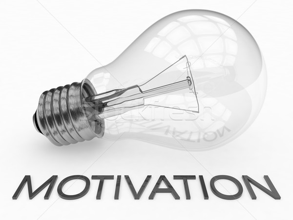 Motivación bombilla blanco texto 3d ilustración Foto stock © Mazirama