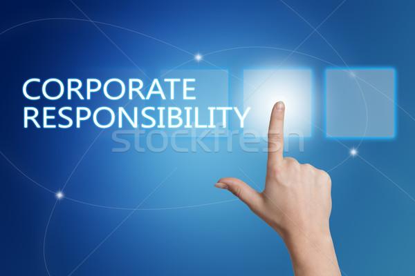Corporate responsabilità mano pulsante interfaccia Foto d'archivio © Mazirama